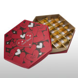OEM het Vakje van de Chocolade van het Document van het Karton met Afgedrukt Embleem