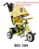 [ببي كرّير] درّاجة ثلاثية عمليّة بيع حارّ بلاستيكيّة طفلة يجلس درّاجة ثلاثية ويكذب [سترولّر]