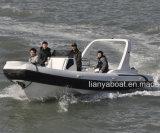 Liya 7.5m Hypalon bote hinchable Rhib bote inflable rígido