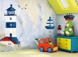 鉄の人が付いている子供部屋のためのNON-WOVEN物質的な壁ペーパー