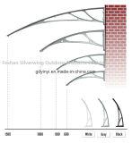 Aluminiumlegierung! Tür-Kabinendach-Fenster-Markise 10 Jahre garantieren (60*80)