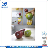 Глянцевая виниловая пленка съемных наклеек упаковки фруктов
