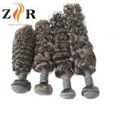 自然なカラー毛の加工されていないインドのバージンのRemyの人間の毛髪のよこ糸取除くこと