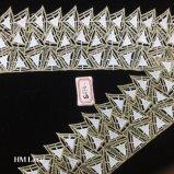 Triángulo de 8.5cm Diamond de encaje de ganchillo hechos a mano Accesorios de ropa de tejido Hme875