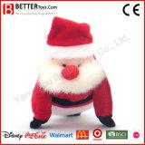 O luxuoso do animal enchido da decoração do Natal brinca o brinquedo macio de Papai Noel para miúdos