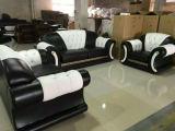 Sofá da sala de visitas com jogo moderno do sofá do couro genuíno