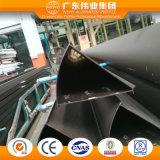 Profil faisant le coin en aluminium pour le guichet de tissu pour rideaux (poudre enduite)