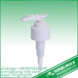Pompa liquida di plastica di alluminio 28/410 della lozione di vendita dell'anello d'argento