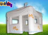 tenda gonfiabile della cabina di colore bianco per fare pubblicità