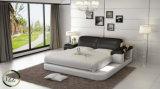 寝室のためのアメリカの高品質の単一の革ベッド