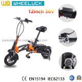 CER 36V 12 Zoll-Fabrik-Preis heißes verkaufenfaltendes E-Fahrrad