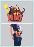 Bolsa de herramientas determinada de la abrazadera inmueble del cuero del zurriago de la alta calidad de Tan