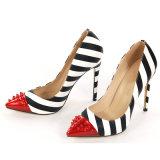 La moda de cuero auténtico estilete sexy señoras de Tacón Zapatos de Vestir bombas