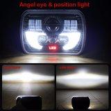 La máxima calidad 5X7 12V 24V LED haz de alta/baja de 7 pulgadas de Faros Faros de camiones