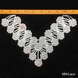 47cm de largeur de haute qualité polyester de mariée Collier chimique Dentelle pour dame Vêtements d'usure LSH8605 V de la forme de fleur
