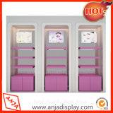 Estante cosmético cosmético de la estantería de los estantes de visualización