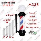 M338 Équipement de salon de cheveux, rotation et éclairage Barber Pole