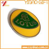 Pin do emblema da flor com o ouro Shining chapeado (YB-LP-51)