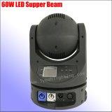디스코 DJ 가벼운 60W LED 이동하는 맨 위 소형 이동하는 맨 위 빛