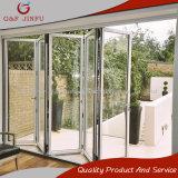 Алюминиевый профиль белого двойного стекла складной Двери на балкон