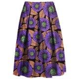 El batik elegante de las faldas africanas retras atractivas de Dashiki de las mujeres bordea las faldas elegantes ocasionales