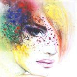 Modernes dekoratives Ölgemälde des schönen Mädchens