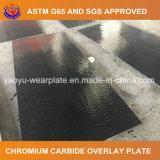 Placa do desgaste do revestimento do carboneto do cromo da soldadura