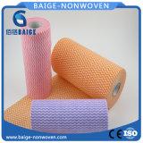 Tela no tejida impresa púrpura de Spunlace para los trapos del hogar