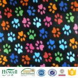 Materias textiles impresas pata de la tela del paño grueso y suave del poliester de los surtidores de China