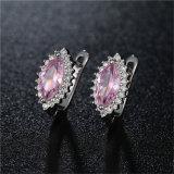 Madame en pierre principale colorée différente Brass Earrings de bijou de mode