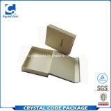 Rectángulo de papel reciclado laminación brillante modificado para requisitos particulares de la bufanda de la insignia