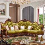 居間の家具(812)のための実質の革ソファー