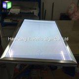 Double côté Snap cadre photo Aluminium LED rétroéclairé Boîte à lumière de l'affichage de publicité