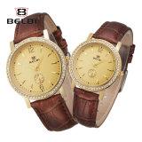Belbi Paar-Uhr-Mann-und Frauen-Form-beiläufige einfache Diamant-Leder-Liebes-Uhr
