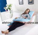 Descanso de alimentação da gravidez da forma do descanso C do corpo da tampa feita sob encomenda do algodão de enchimento da fibra