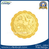 月ケーキの形ののカスタマイズされた記念品の硬貨