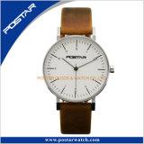 Relógio de pulso delicado clássico de quartzo de Miyota do vintage simples do estilo