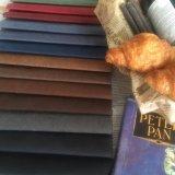 Tessuto di cuoio sintetico poco costoso 100%Polyester dalla fabbrica