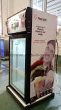 3개의 층 유리제 문 상업적인 수직 전시 아이스크림 유리제 문 냉장고