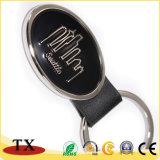 O logotipo personalizado chaveiro couro PU Metal Oval para Oferta Promocional