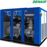 Compressore d'aria ad alta pressione a tre fasi iniettato olio a due fasi della vite di flusso 415V