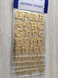 Het Goud van de veiligheid schittert de Stickers van de Brief/van het Alfabet van de Baby