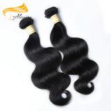もつれ100のペルーのバージンの毛のよこ糸を取除かないこと