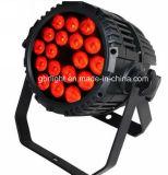 ¡Brillo estupendo! 18X12W Rgbwuv 6 en 1 IGUALDAD de la etapa LED del control de DMX puede iluminación, luz de la IGUALDAD de DJ LED