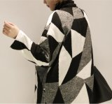 Dame Fashion Wool Jacket Fleece beschichten unten