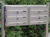 Hot Sale populaires 360*100*400 Boîte aux lettres en aluminium moulé en métal avec Post