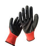 Удобные долговечность латексные перчатки с покрытием безопасности вещевого ящика