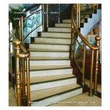 Frontière de sécurité d'escalier d'acier inoxydable de 304 Ormental