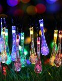 De warme Witte/Koele Lichten van het Koord van de Fee van het Wit/van de Ijskegel Bule/RGB Zonne, het LEIDENE 19.5FT 30 Bewijs van het Water voor Openlucht, Tuin, Partij, Huwelijk, Kerstmis, en de Decoratie van de Vakantie