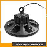 alta iluminación de la bahía de 100W UFO/Round 130lm/W LED con el programa piloto de Meanwell